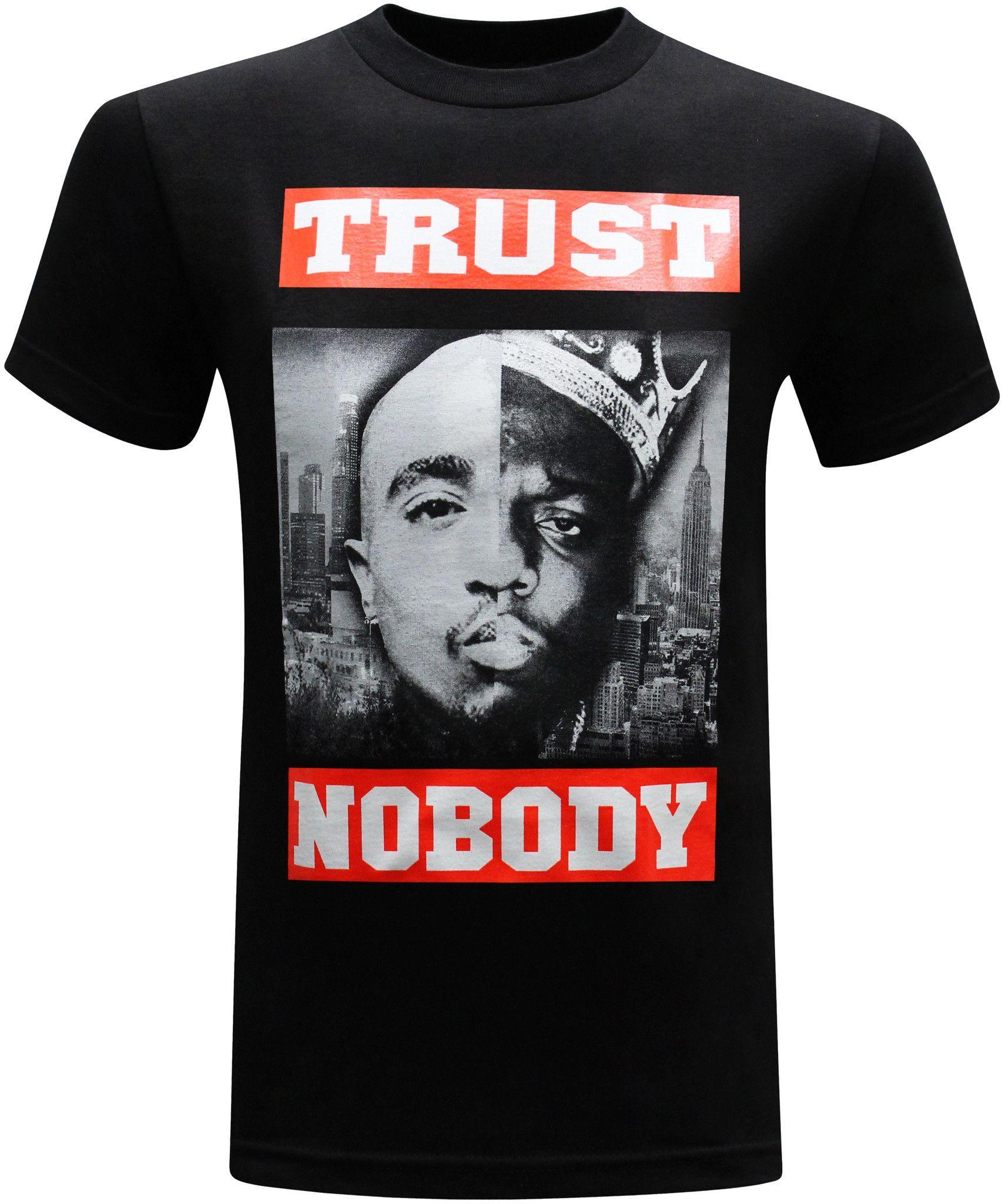 b73b577b0eb8 Trust Nobody West Coast East Coast Tupac and Biggie Men's T-Shirt ...