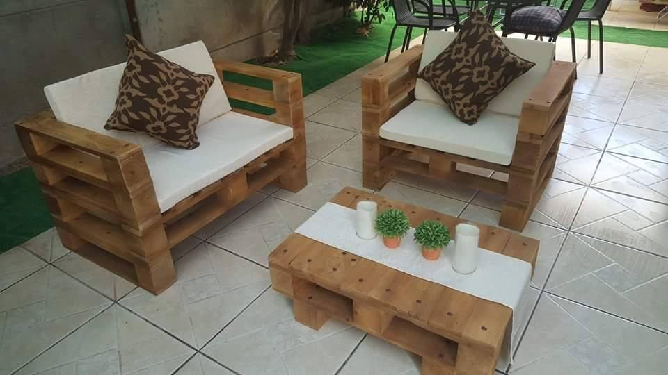 Pallet chair instructions plans and diy ideas thatu0027s help in making pallet furniture. & Pallet Patio Chair Set   Pallet Furniture DIY u2026   Pinteresu2026