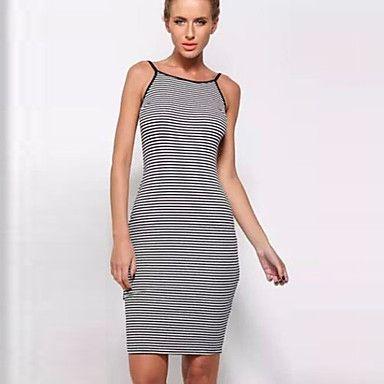 Women's Sexy Straps Sleeveless Dresses (Cotton) – USD $ 9.99