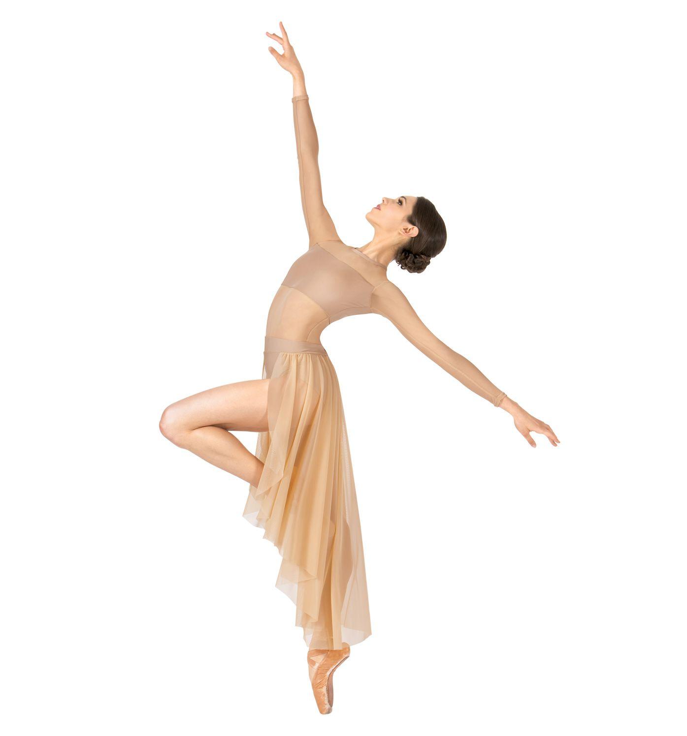 457b97769 Adult Long Sleeve High-Low Dance Performance Dress Sc 1 St Pinterest