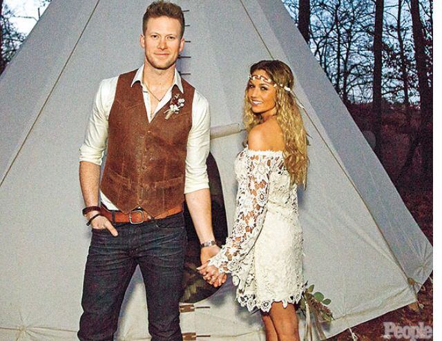 Bk And Bcole At Their Wedding Nashville Wedding Florida Georgia Line Boho Chic Wedding