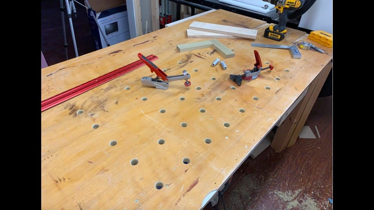 How To Drill Bench Dog Holes Dog Bench Diy Dog Stuff Diy Bench