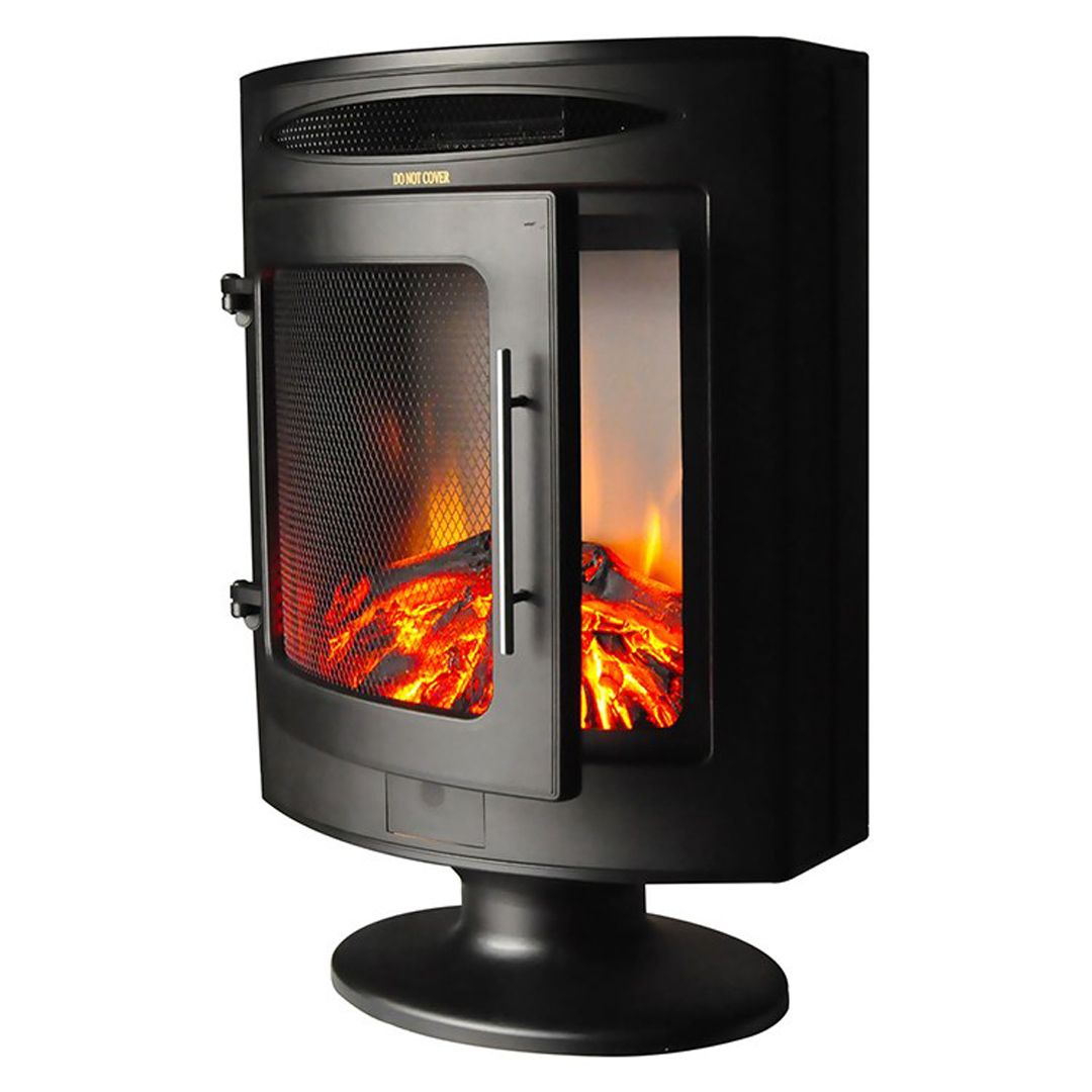 Cambridge Cam20fsef 1blk Electric Fireplace Freestanding Black 29x29 Inch Logs Electric Fireplace Fireplace Heater Electric Fireplace Heater