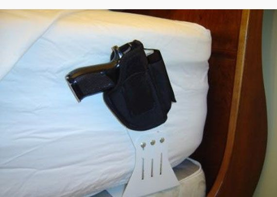 Hand Gun Bed Holster | Home Safety Products | Pinterest | Holsters ...
