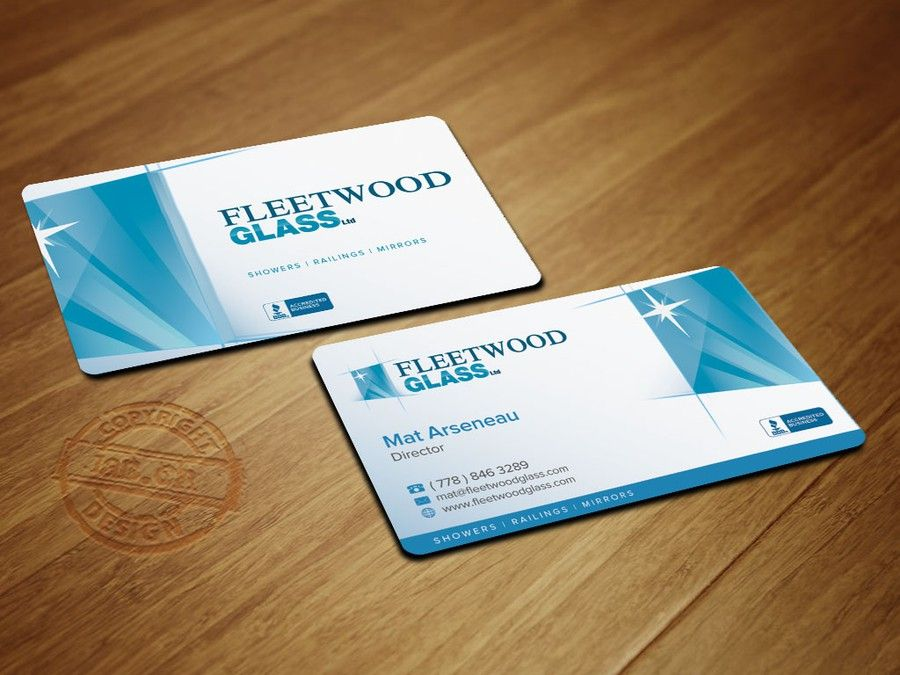freelance Create a stand out, modern business card for Fleetwood ...