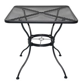 wrought iron square patio dining table