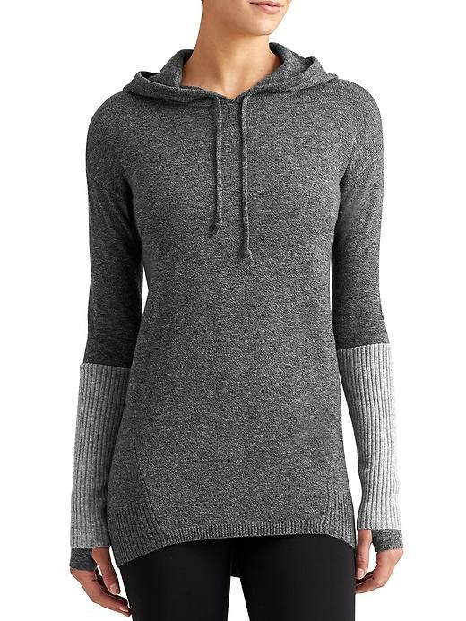 de53e1b9831f Merino Nopa Hooded Sweater - The 100% Merino wool sweater with a sweet  ombré color and sporty