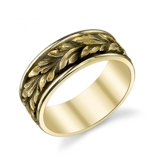 Van Craeynest Hand Engraved Art Deco Mens Wedding Ring Design No I Could See A Roman Emperor Wearing Something Like This