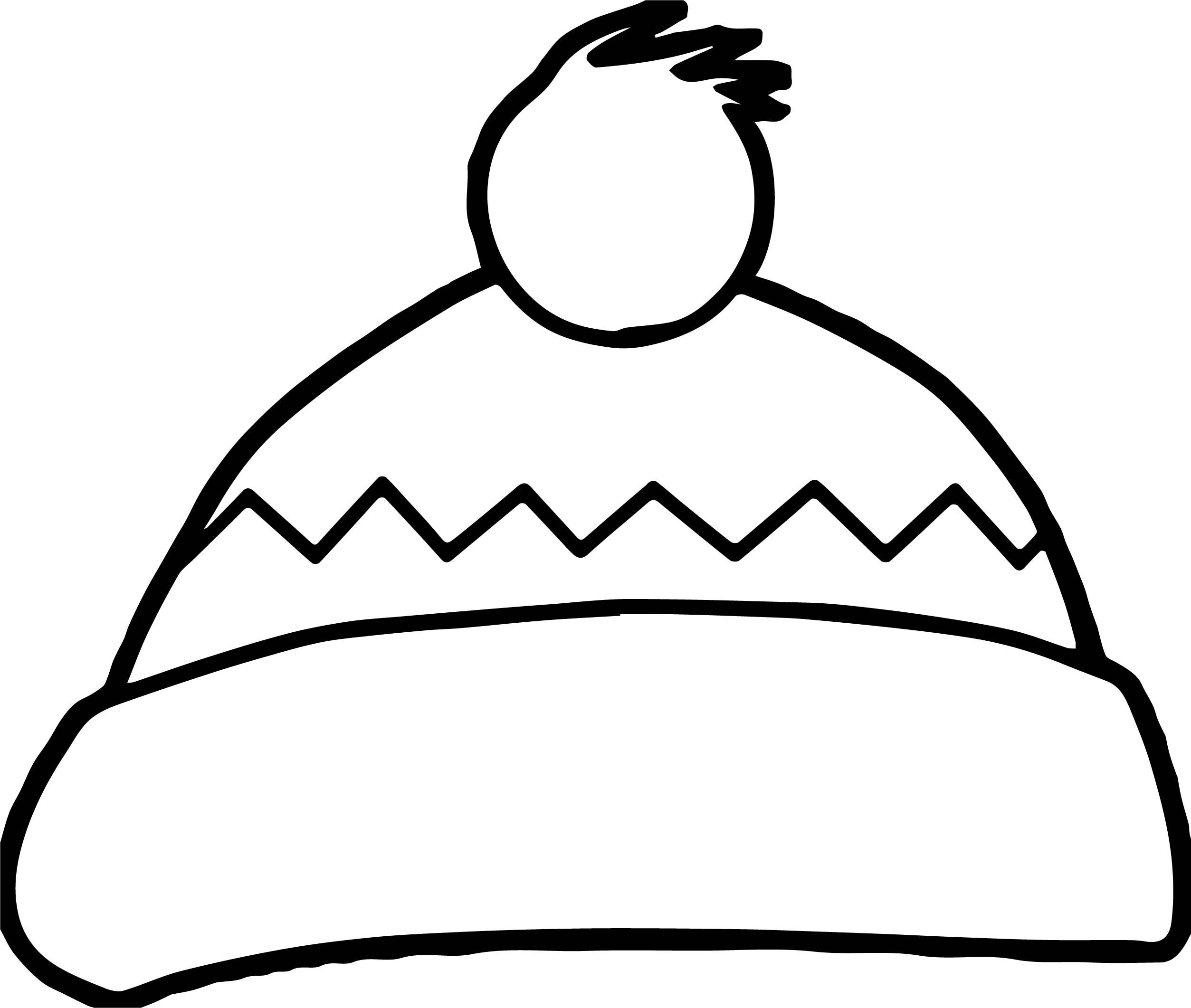 Awesome Winter Hat Coloring Page Coloring Pages Winter Hats Color