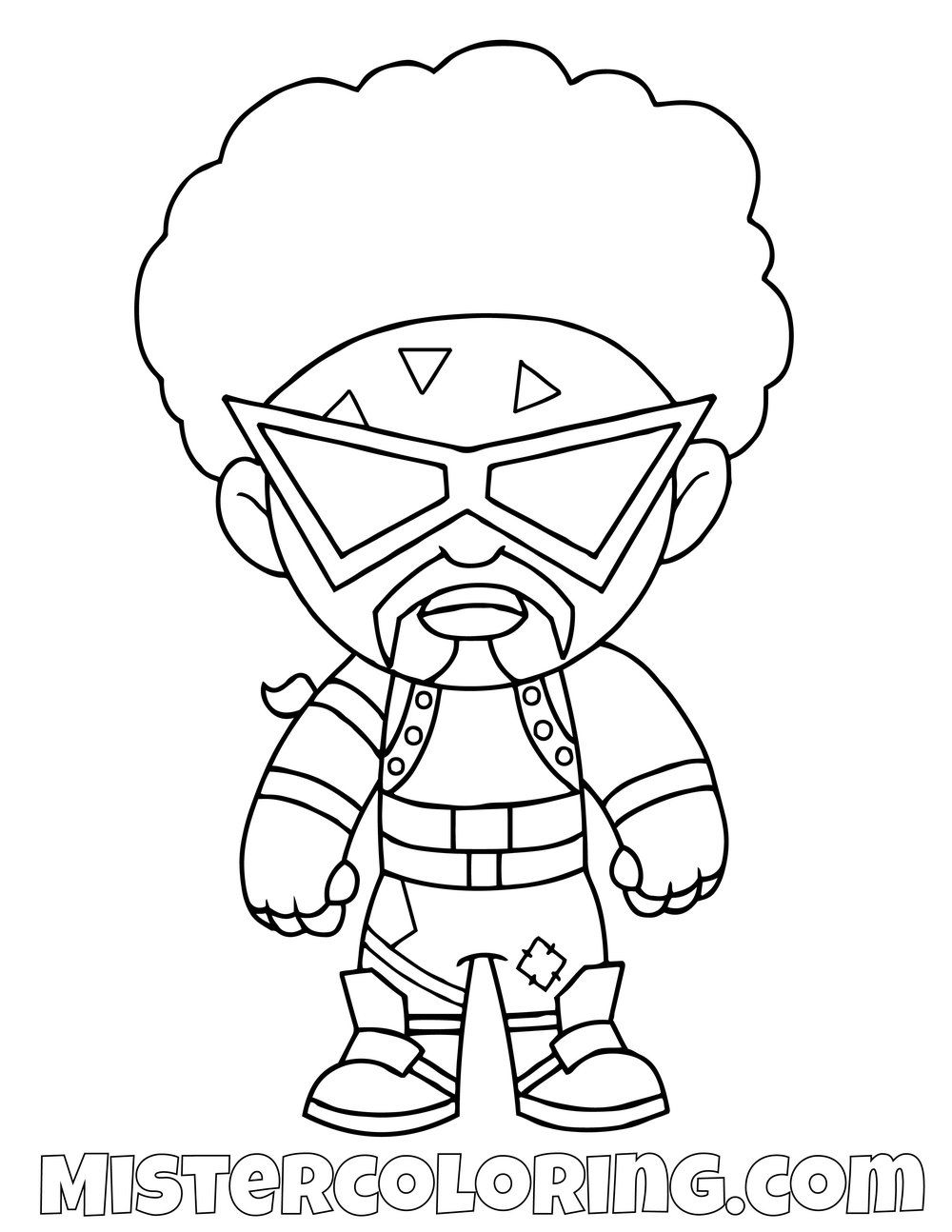 Free Funk Ops Chibi Fortnite Skin Coloring Page For Kids