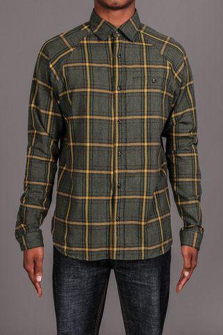 Nuco Union Raglan Sleeved Twisted Y/D Plaid Shirt