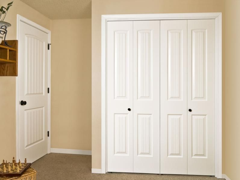 Jeld Wen Molded All Panel Santa Fe Interior Page Door Double Closet Bifold