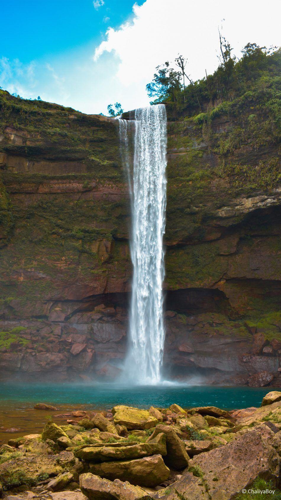 Waterfall Blue Sky Phe Phe Falls Nature Photography Waterfall Beautiful Nature