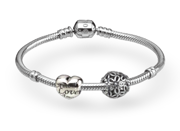 Pandora Bracelet - So this is how mine started out.  Birthday Gift from the Hubby.