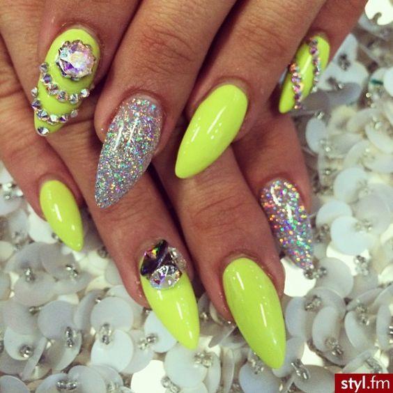 Neon Nails Design | Neon nail designs, Neon nails and Neon
