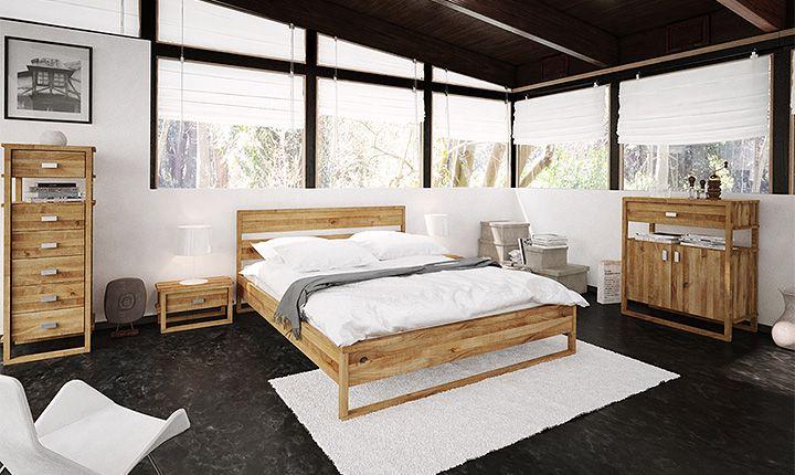 Bett MINIMAL Holz massiv schlafzimmer bedroom
