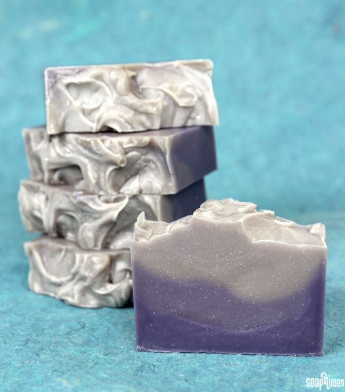 Layered Lavender Cold Process Soap Tutorial on Soap Queen