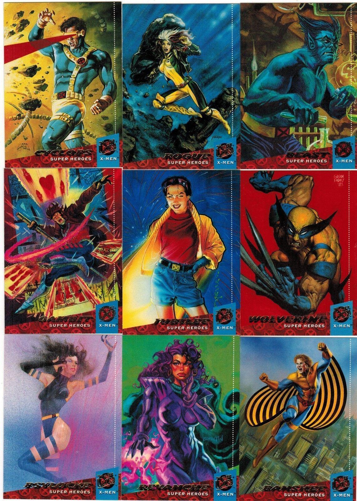 1994 Fleer Ultra X Men Series I 1 Marvel Single Cards Complete Your Set 1 60 X Men Fox Kids Comic Character