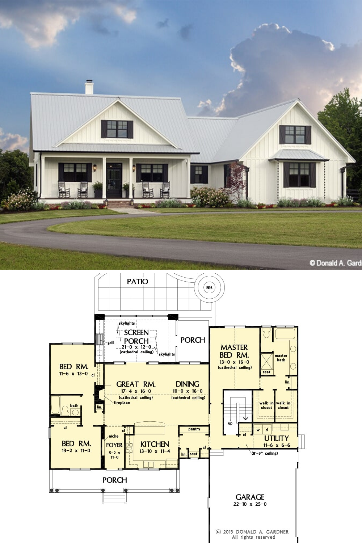 45++ Single story farmhouse house plans best