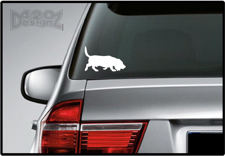 Basset Hound Bumper Sticker Car Decal Vinyl Mac Decals Bumper Stickers Car Decals Vinyl Car Decals [ 1041 x 1500 Pixel ]