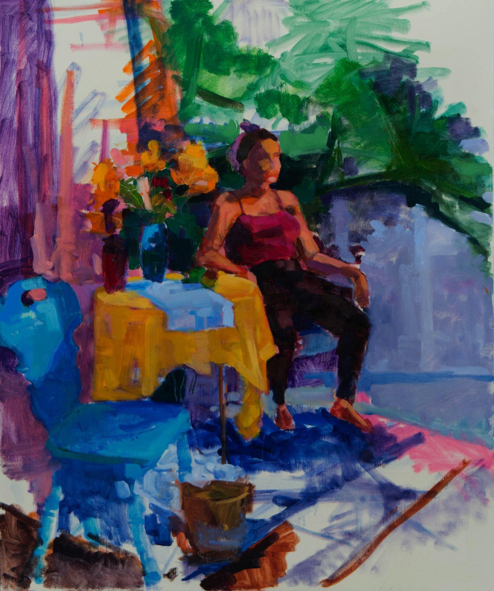 Frederick Gill's Chair   Oil on Canvas   Elizabeth Regan