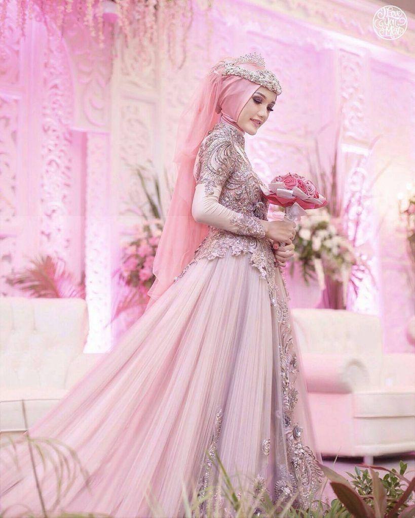 Foto Gaun Pengantin Muslimah 8  Gaun pengantin, Gaun, Pengantin