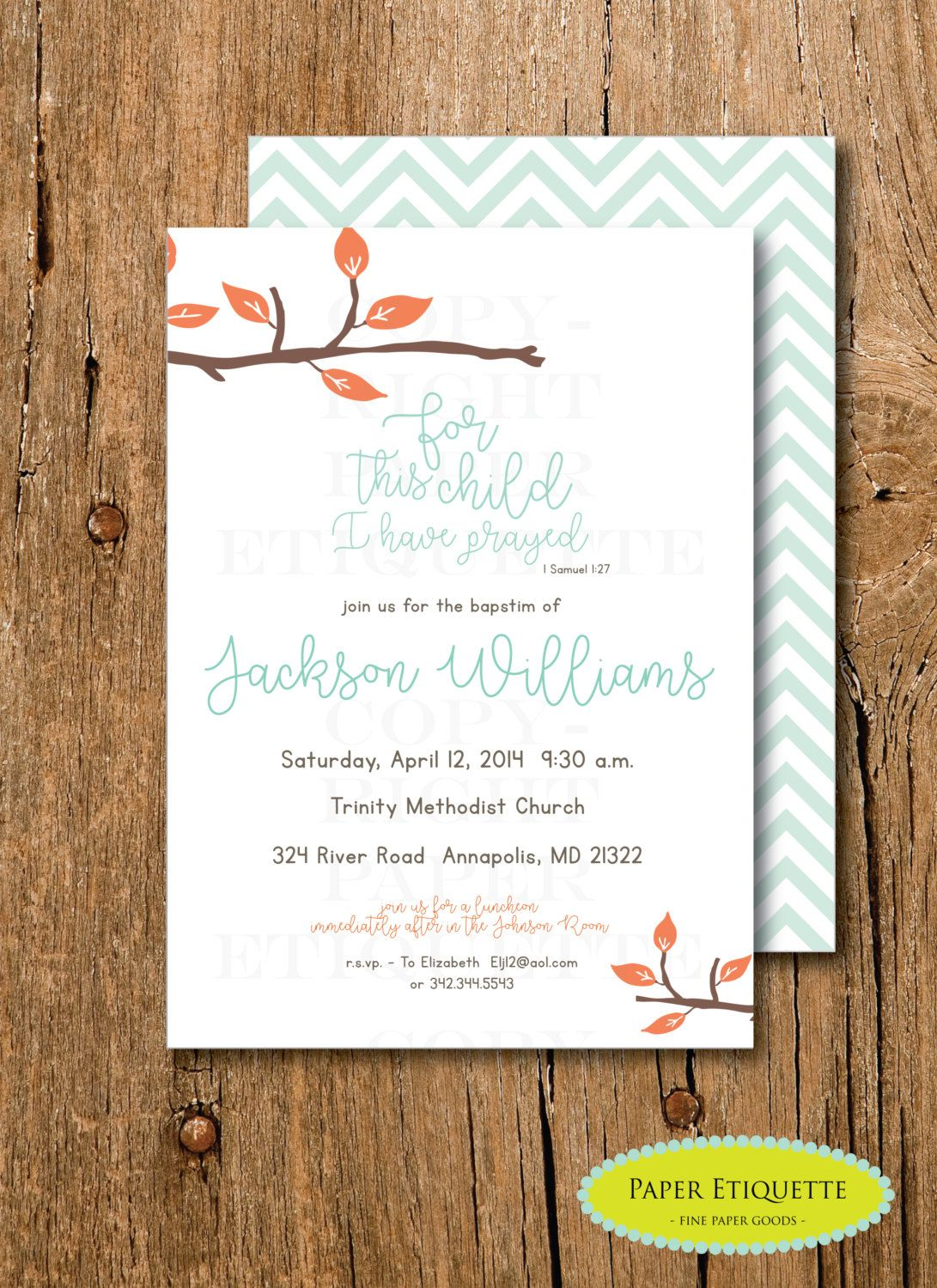 Religious Baptism or Christening, Religious Baby Shower Invitation ...