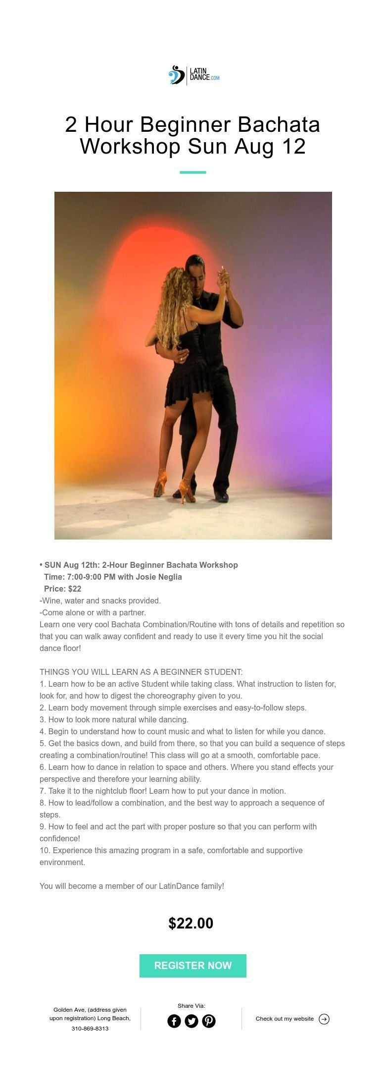 how much are bachata dance classes