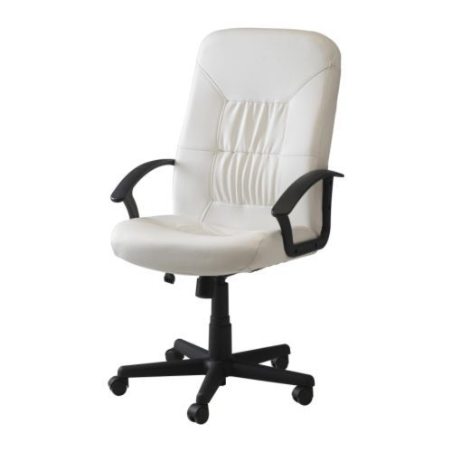ikea office chair white vintage wicker chairs for sale verner swivel 59 99 casters soft floors if want hard need to buy separately