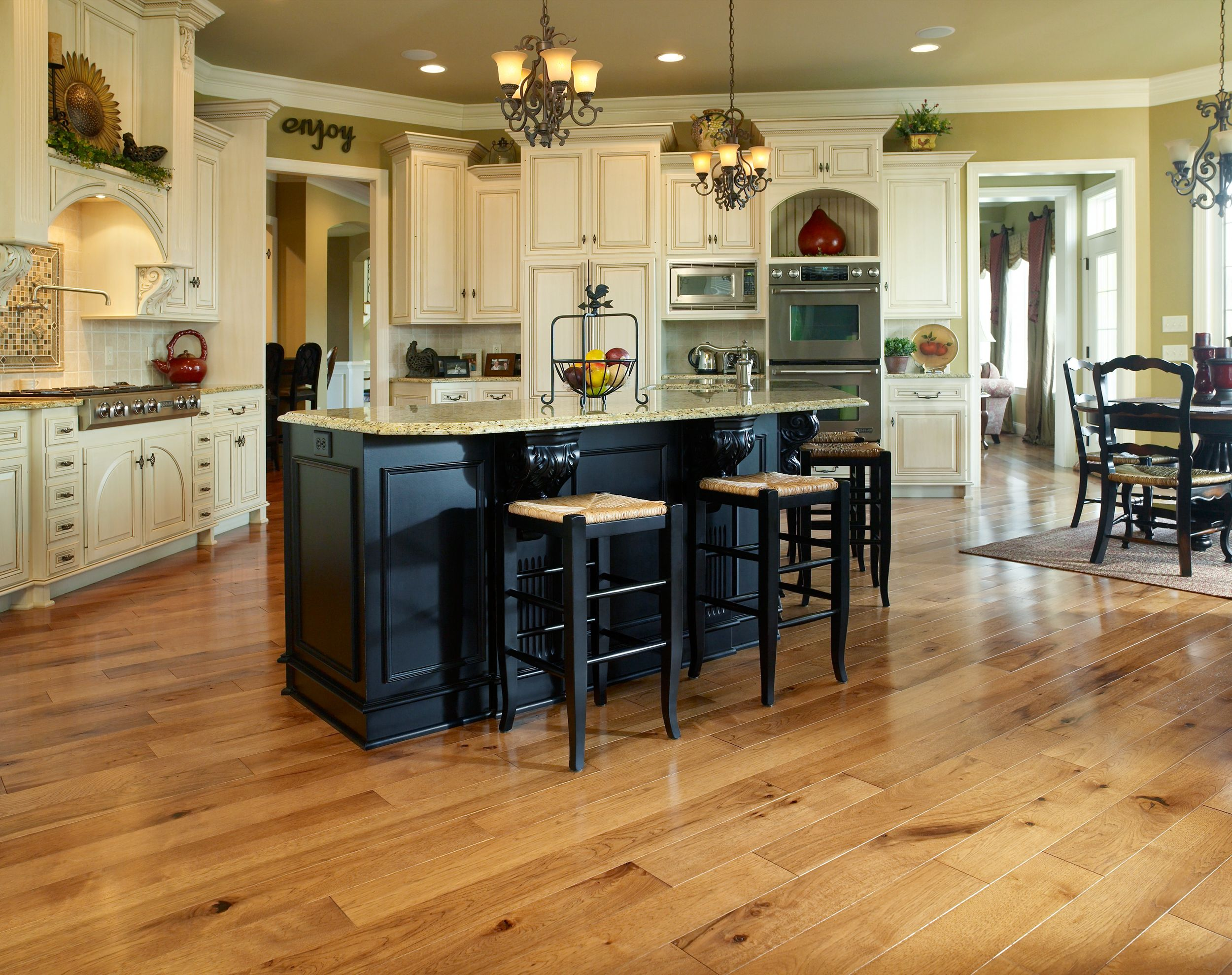 Wood In Kitchen Floors Plan Hickory Hardwood Flooring Bellawood And Hickory Hardwood