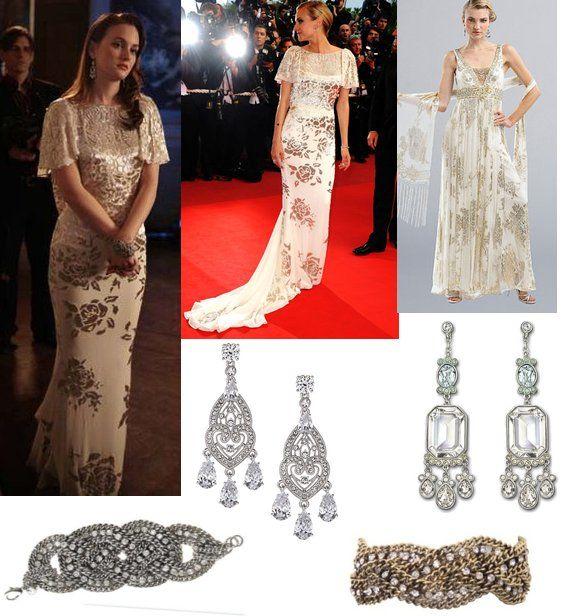 Blair Waldorf. Love love love this dress. Marchesa Gold Metallic Gown