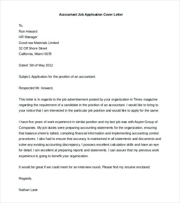 Cover Letter Template Job Application Cover Letter Template