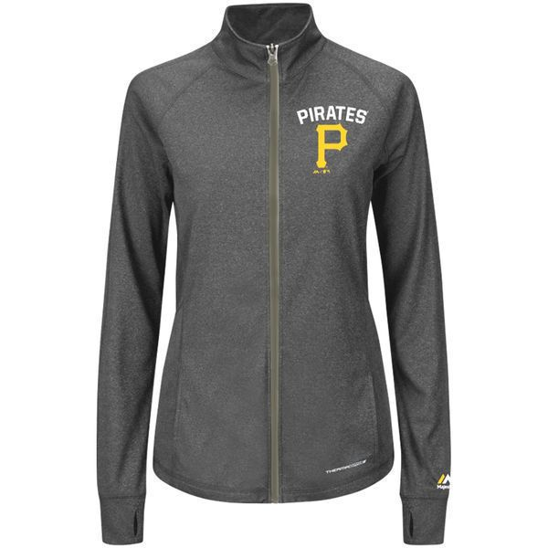 buy online 57efe 0569f MLB Pittsburgh Pirates ThermaBase Women s Jacket Hoodie Majestic Gray Size  L NEW (eBay Link)
