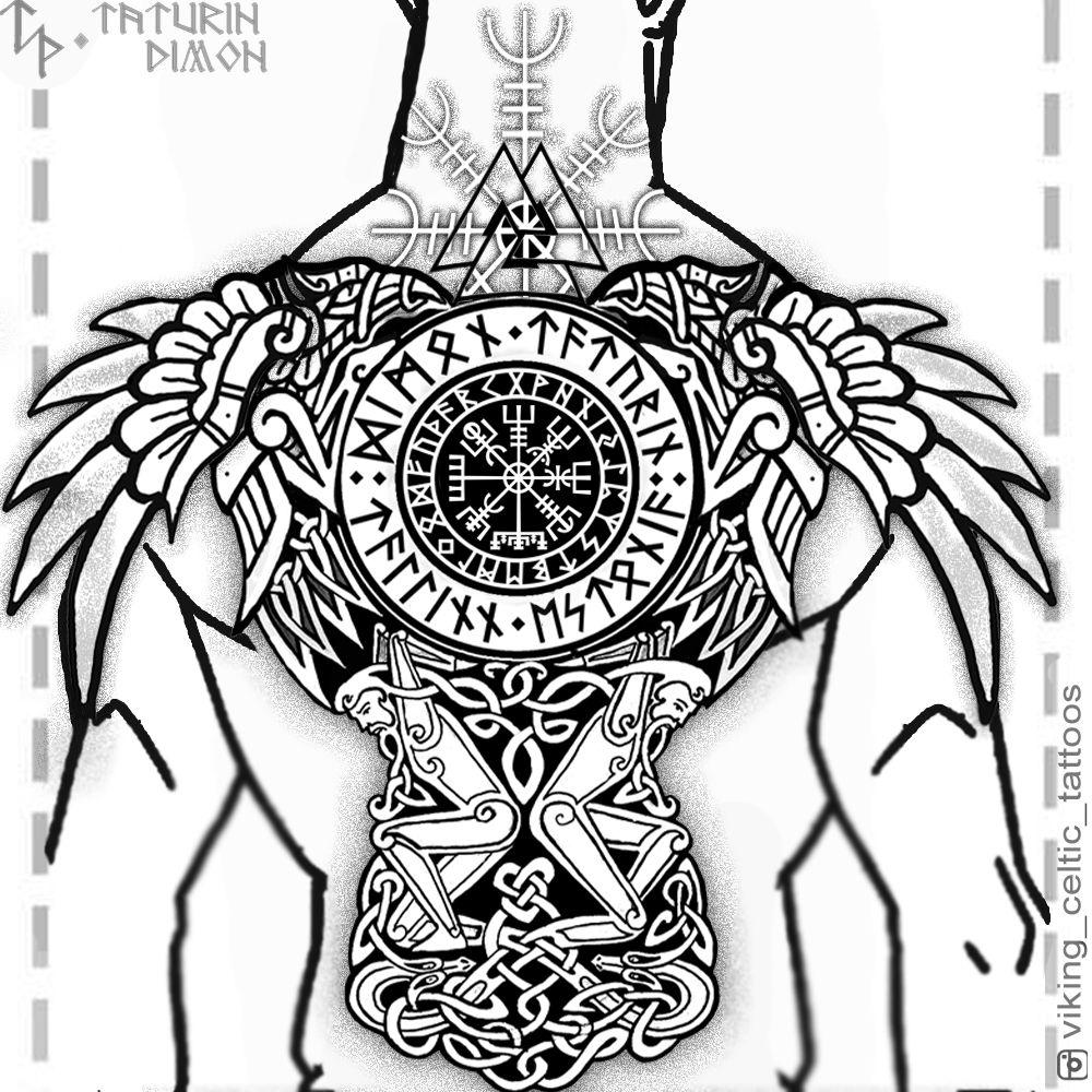 Viking Celtic Tattoos By Dimon Taturin Www Instagram Com