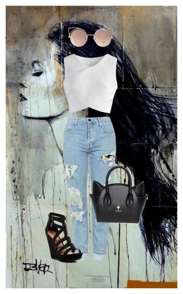 """Nothing special"" by zelihagunes on Polyvore featuring Topshop, Chicwish, Chinese Laundry and MANGO"