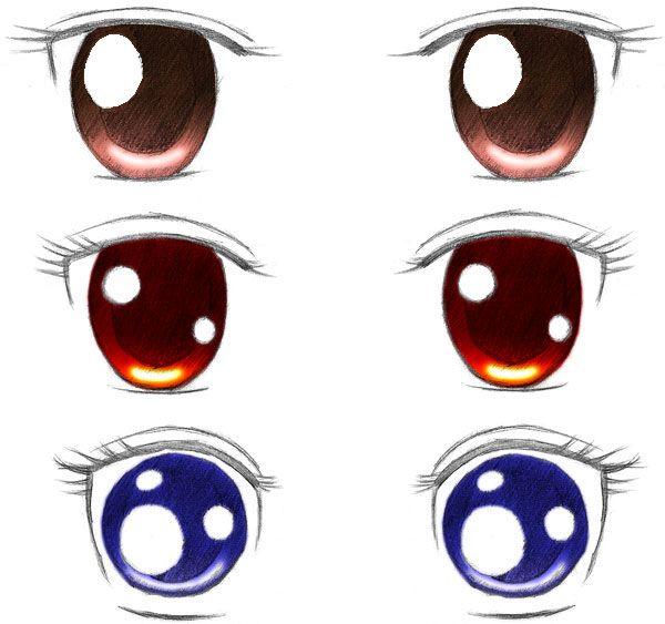 Resultado de imagen de como hacer ojos de anime | OJOS | Pinterest ...