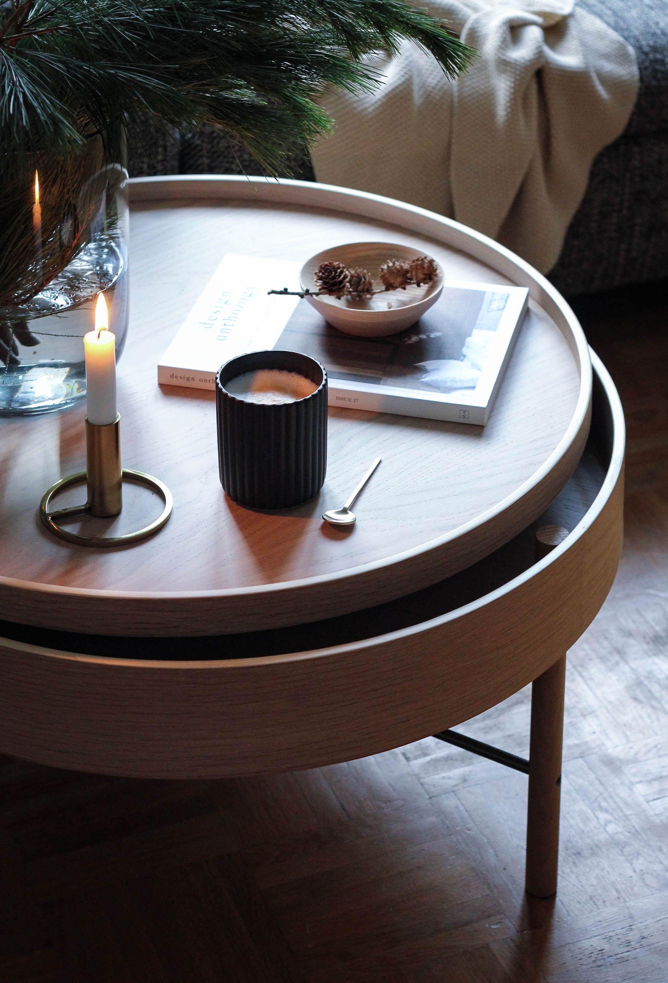 Couchtisch Aus Holz Turning Table Von Menu Couchtisch Couchtisch Skandinavisch Couchtisch Stauraum