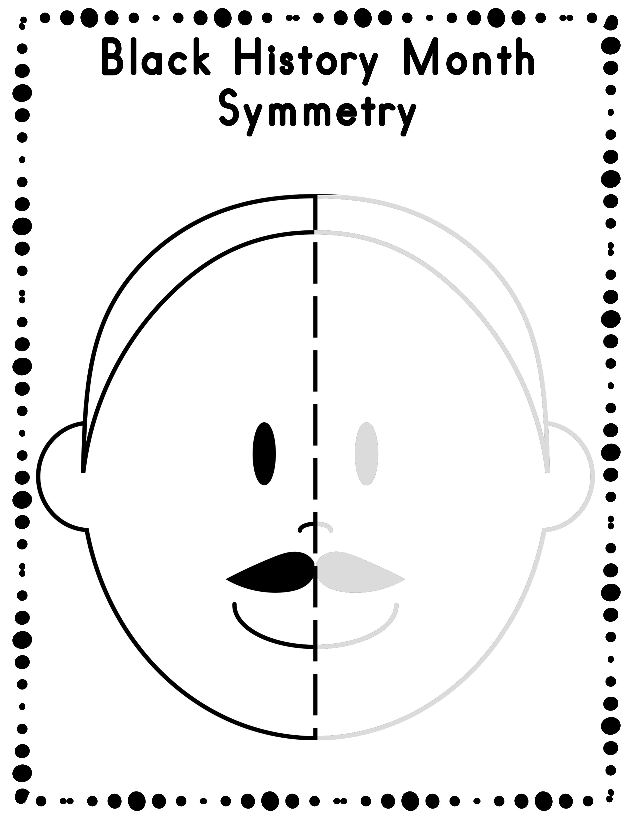 Black History Month Symmetry Drawing Activity For Art And