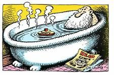 R. Crumb Mr. Natural in the Bathtub with a Head Comix Postcard