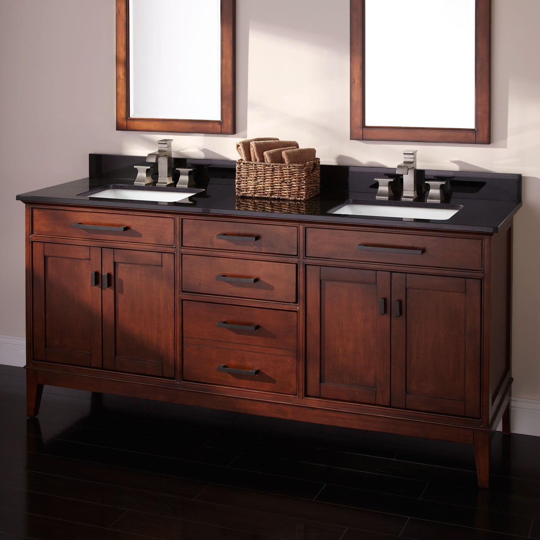 72 Taren Bamboo Vanity For Rectangular Undermount Sinks Light