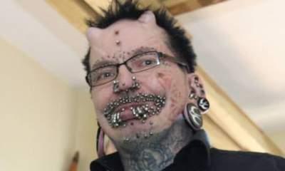 Most Pierced Man Barred 'Over Black Magic' | View photo - Yahoo News UK