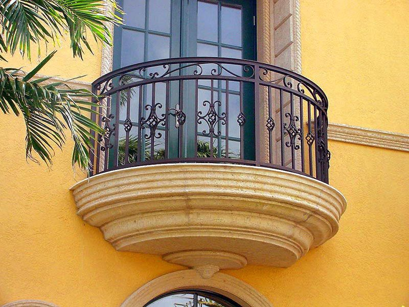 Faux Balcony Railing