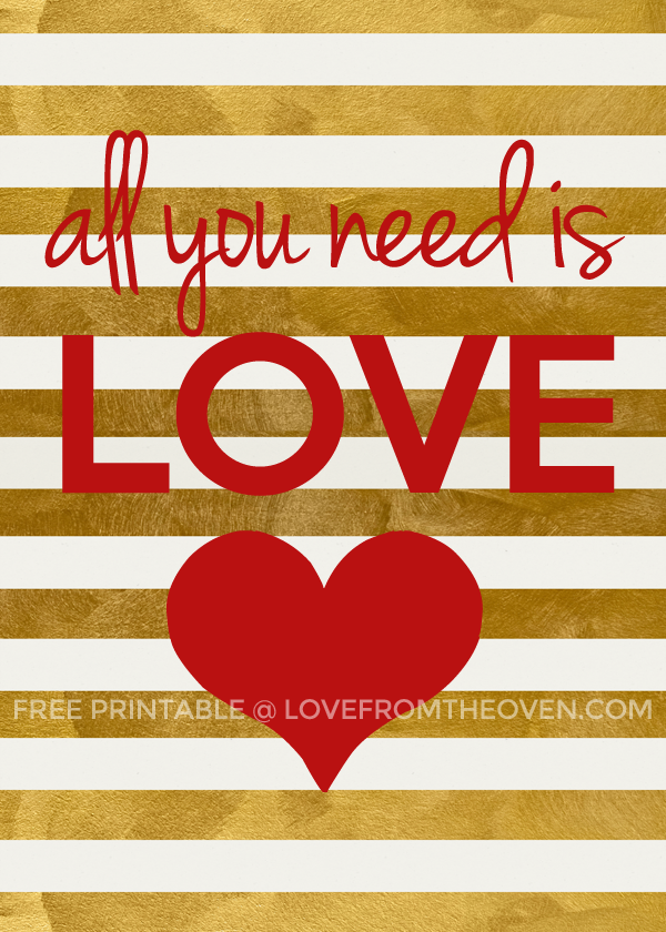 30+ FREE Valentineu0027s Day Printables And Subway Art