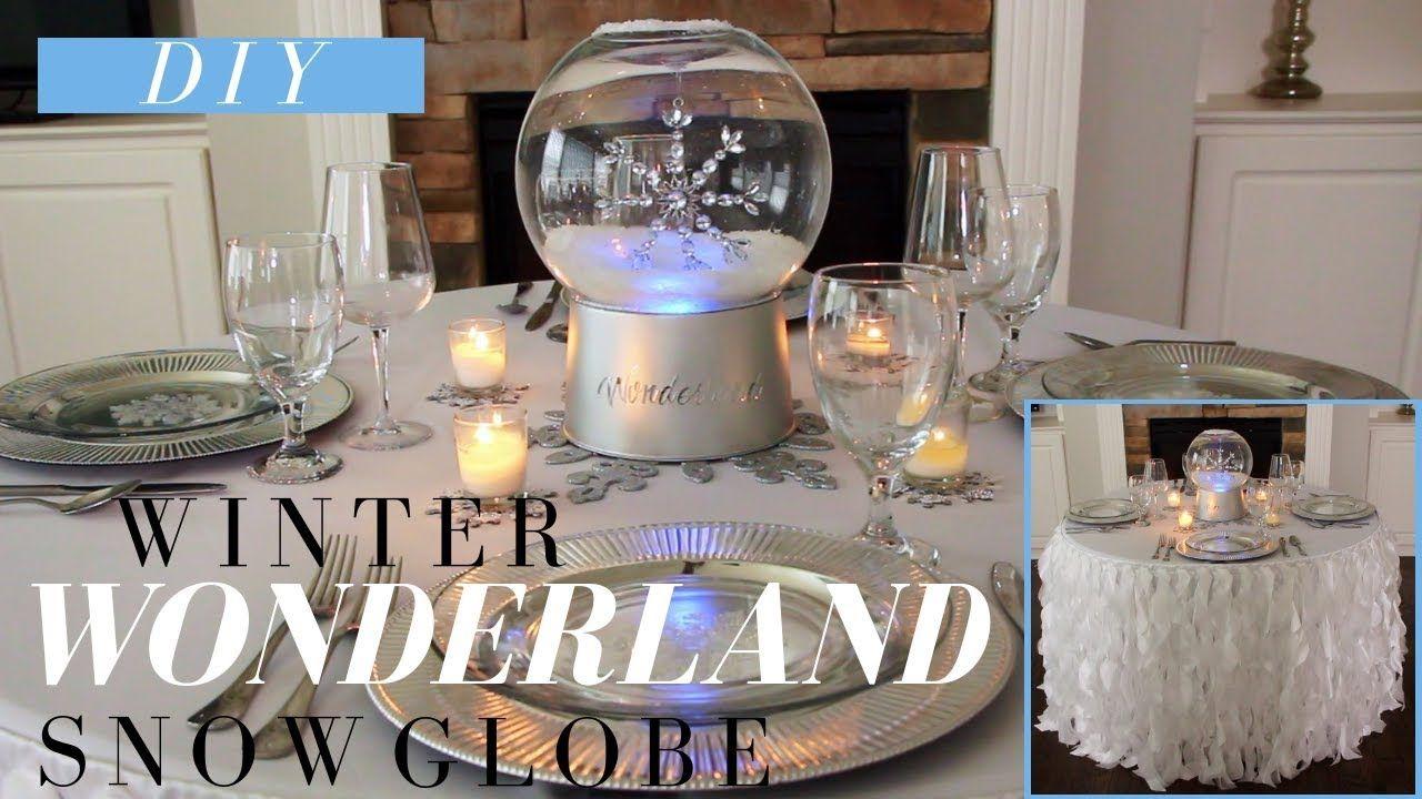 Winter Wonderland Decor DIY Snow Globe PERFECT for