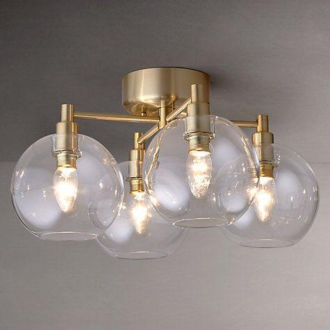 buy john lewis gloria brass 4 light semi flush ceiling. Black Bedroom Furniture Sets. Home Design Ideas