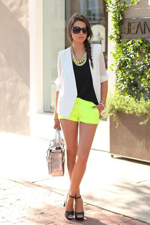 love this; blazer, shorts <3