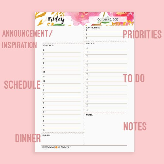 Daily Planner Printable Half Sheet A Monthly Calendar Day Plan