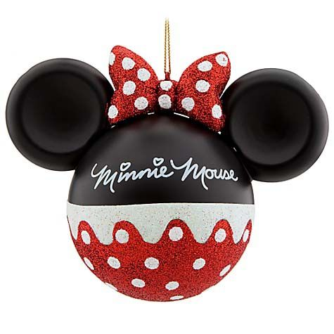 Your WDW Store - Disney Christmas Ornament - Mickey Ears Large - Minnie  Mouse - Disney Christmas Ornament - Mickey Ears Large - Minnie Mouse