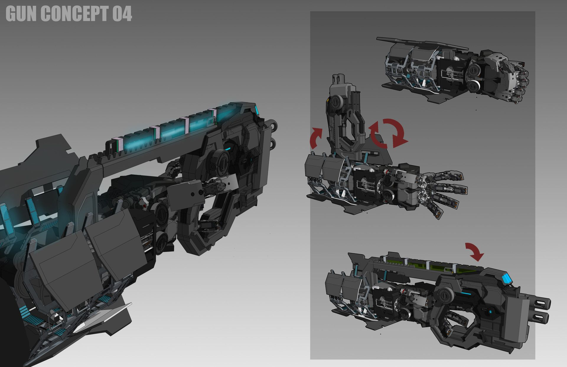 ArtStation - Archangel mech arm, bryant Koshu | Weapons For Comic in