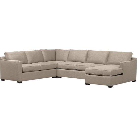 Davis 4 Piece Sectional Sofa In Sectional Sofas Crate